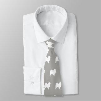Samoyed Silhouettes Pattern Tie
