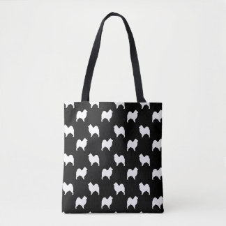 Samoyed Silhouettes Pattern Tote Bag