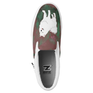 Samoyed Slip-Ons; Mens & Women, Sizes Printed Shoes