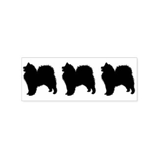 "Samoyed Stamp, 1 X 1.25"" Pad Separate Handle sep.. Rubber Stamp"