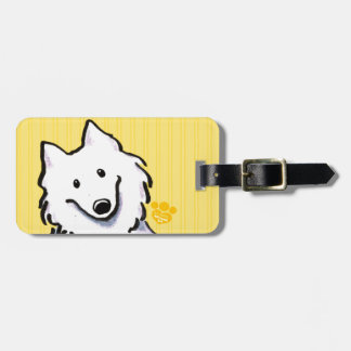 Samoyed Sunshine Stripes Luggage Tag