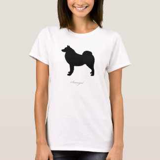 Samoyed T-shirt (black silhouette)