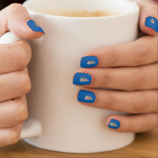 Samoyed Winter Blue Nail Art --portable art.