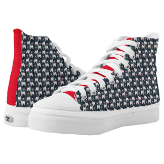 Samoyed Zipz High Top Shoes, US Men & Women Sizes Printed Shoes