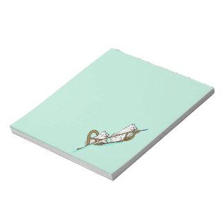 Samoyeds in Sled Notepad