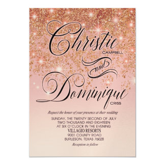 SAMPLE Christie glitter cascade Champagne Shimmer Card
