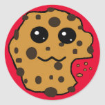 Sample Circle Chocolate chip cookie sticker.