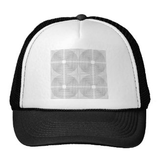 Sample concentric circles pattern concentric mesh hats