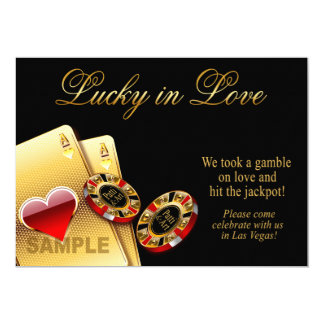SAMPLE ONLY Casino Style Wedding Paper: semi-gloss 13 Cm X 18 Cm Invitation Card