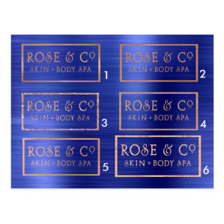Samples Rose Gold Cobalt Blue Emerald Postcard