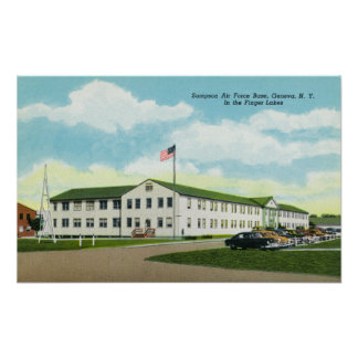 Sampson Air Force Base Building Poster
