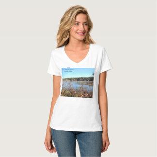 Sams Lake Bird Sanctuary womens vneck tshirt