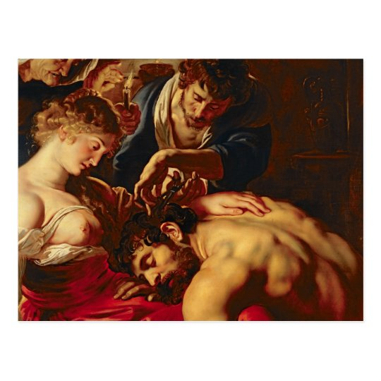 Samson and Delilah, c.1609 Postcard