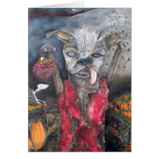 Samson, the Chinese Crested Dog Card