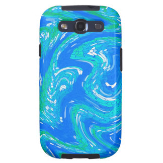 Samsung case , S3 abstract turquoise Galaxy SIII Case