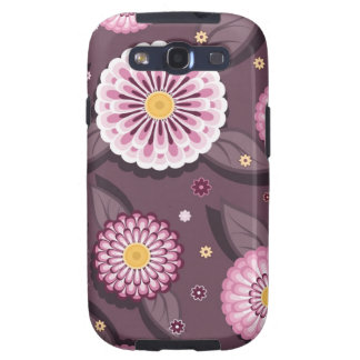 Samsung Galaxy  case with daisy patterns Samsung Galaxy S3 Cases