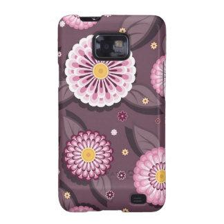 Samsung Galaxy  case with daisy patterns Samsung Galaxy SII Cover