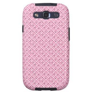 Samsung Galaxy S3 Pink Plaid & Heart Phone Case Galaxy SIII Cases