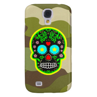 Samsung Galaxy S4 camouflage mexican skull Samsung Galaxy S4 Cases
