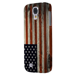 Samsung Galaxy S4 Case with American Wood Flag