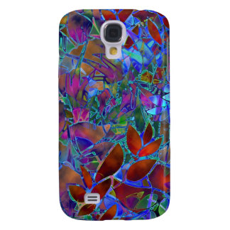 Samsung Galaxy S4 Floral Abstract Stained Glass Galaxy S4 Covers