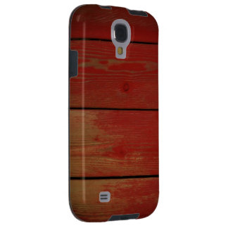 Samsung Galaxy S4 Red Wood Phone Case