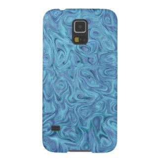 Samsung Galaxy S5 Case - light blue liquid swirls
