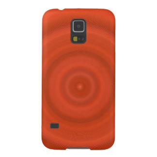 Samsung Galaxy S5 Case - orange concentric circles
