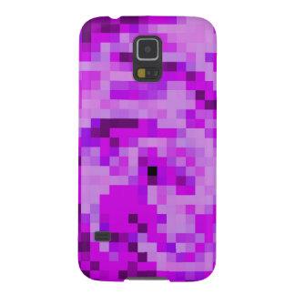 Samsung Galaxy S5 Case - purple digital pixel art