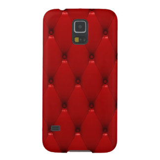 Samsung Galaxy S5 Case, Red Padded Leather Galaxy S5 Cover