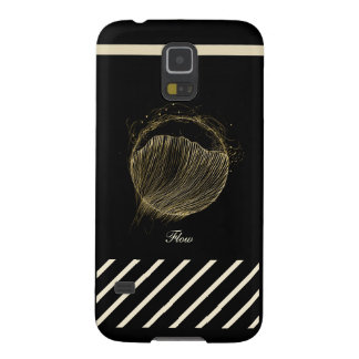 Samsung Galaxy S5 Phone Case, Flow On Black Galaxy S5 Covers