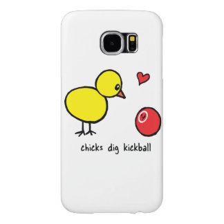 Samsung Galaxy S6 Case - Chicks Dig Kickball