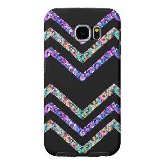 Samsung Galaxy S6 Case Zig Zag Sparkley Texture