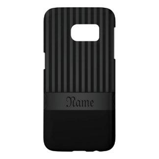 Samsung Galaxy S7 Case Black Background Stripes