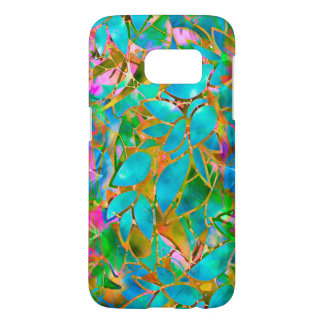 Samsung Galaxy S7 Floral Abstract Stained Glass