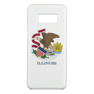 Samsung Galaxy S8 Case with Illinois Flag