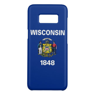 Samsung Galaxy S8 Case with Wisconsin State Flag