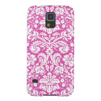 Samsung Pink Damask Pattern Galaxy S5 Covers