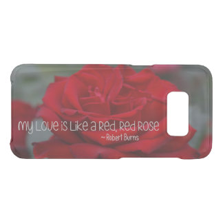 Samsung S8 Clearly Deflector Case My Love Red Rose