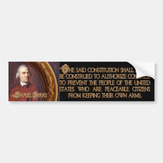 Samuel Adams Citizens and Arms Bumper Sticker