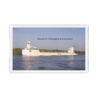 Samuel D. Champlain & Innovation acrylic tray