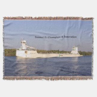 Samuel D. Champlain & Innovation woven blanket