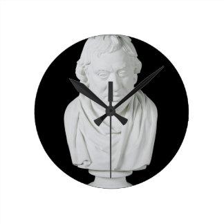 Samuel Johnson (1709-84) 1777 (plaster) Round Clock