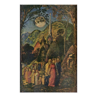 Samuel Palmer - After the evening service Poster