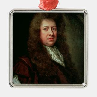 Samuel Pepys 2 Metal Ornament