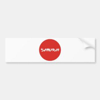 samurai2.png bumper sticker
