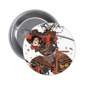 Samurai 6 Cm Round Badge