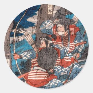 Samurai Ambush Classic Round Sticker