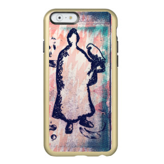 Samurai and Falcon Watercolor Sakura Pink Graffiti Incipio Feather® Shine iPhone 6 Case