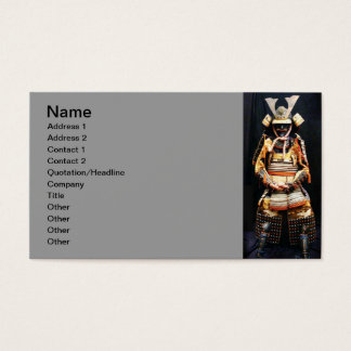 Samurai Armor Business Card